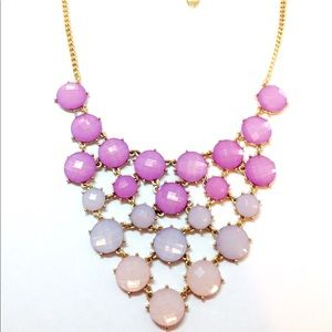 Jewelry - V-shaped Multi-Row Necklace Pastel Stones